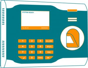 Biometric fingerprint clocking system