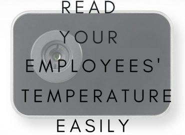 Biometric temperature scanner